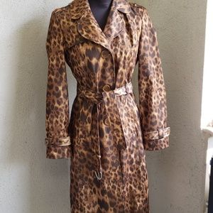 Kenneth Cole Reaction Animal Print Trench/Raincoat